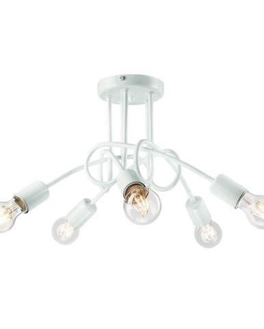 Biele závesné svietidlo pre 5 žiaroviek Lamkur Camilla