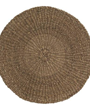 Hnedý koberec z morských rias Geese Rustico Natura, ⌀ 100 cm