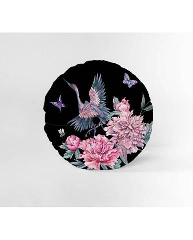 Okrúhly dekoratívny vankúš so zamatovým poťahom Velvet Atelier Garza, Ø45cm