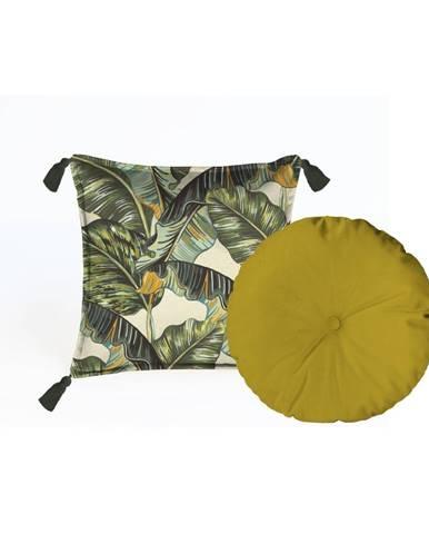 Sada 2 dekoratívnych vankúšov Velvet Atelier Musa, 45×45cm