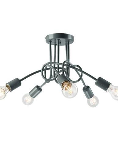 Sivé závesné svietidlo pre 5 žiaroviek Lamkur Camilla