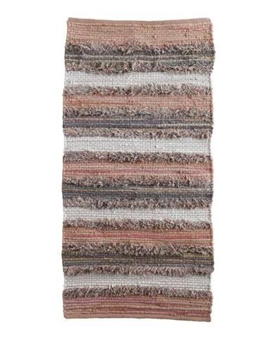Sivo-ružový vzorovaný koberec Geese Ceylon, 120 x 60 cm