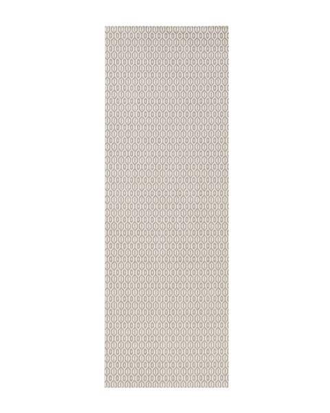 Bougari Sivý vonkajší koberec Bougari Coin, 80x200cm