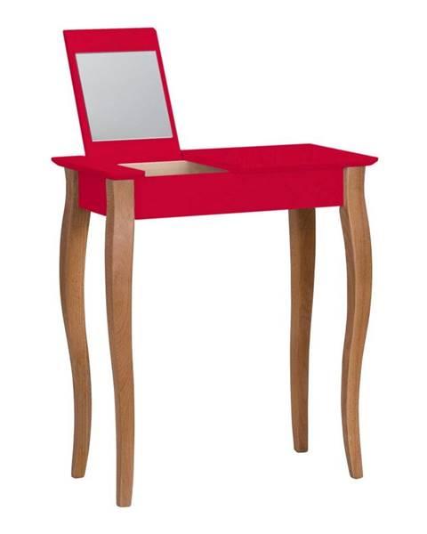 Ragaba Červený toaletný stolík so zrkadlom Ragaba Lillo, šírka 65 cm