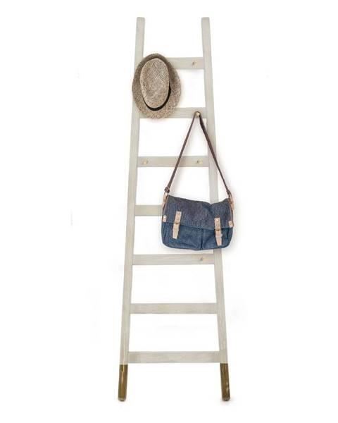 Little Nice Things Sivý odkladací dekoratívny rebrík z borovicového dreva Little Nice Things Gris Hielo