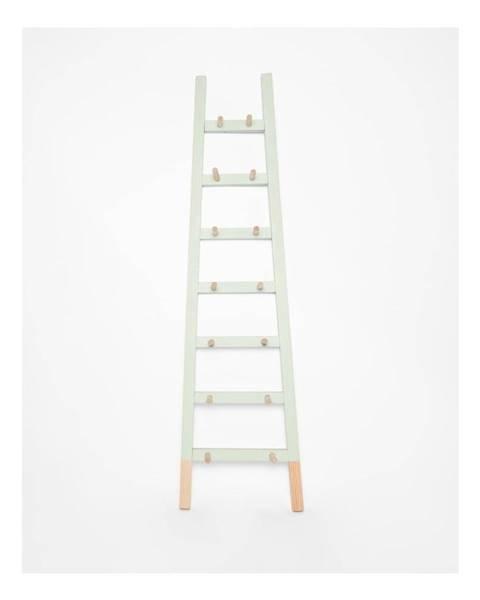 Surdic Svetlozelený odkladací dekoratívny rebrík z borovicového dreva Surdic Rosa