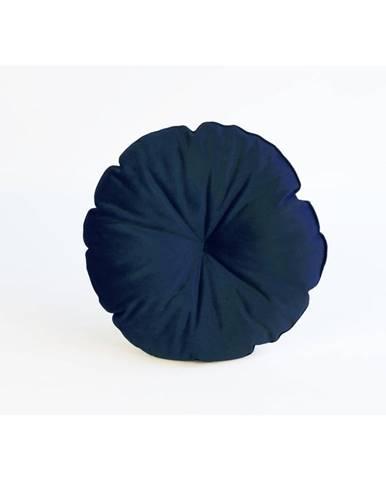 Modrý vankúš z mikrovlákna Surdic Redondo, ø45cm