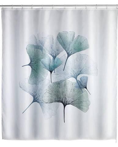 Prateľný sprchový záves Wenko Ginkgo, 180 x 200 cm