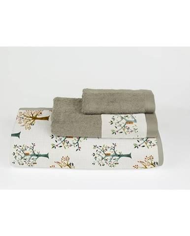 Súprava 3 uterákov z bavlny a mikrovlákna Surdic Trees