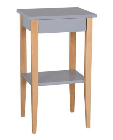 Sivý odkladací stolík Ragaba Entlik
