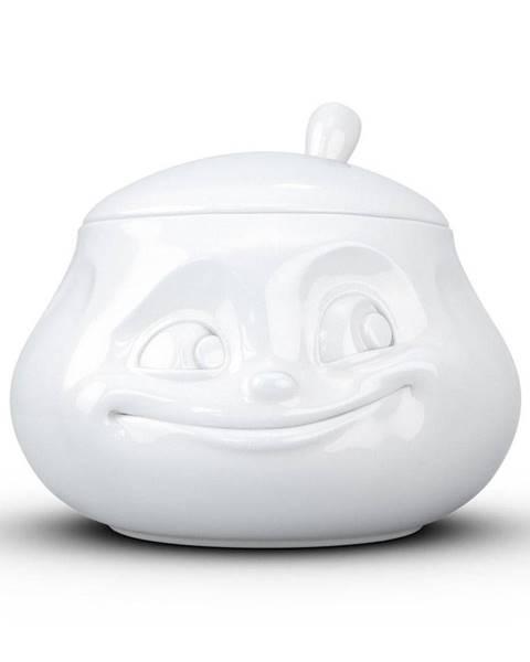 58products Biela usmievavá cukornička z porcelánu 58products