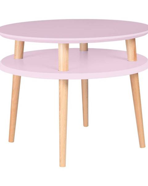 Ragaba Ružový konferenčný stolík Ragaba UFO, ⌀57 cm