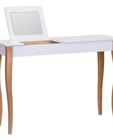 Biely toaletný stolík so zrkadlom Ragaba Dressing Table, dĺžka 105 cm