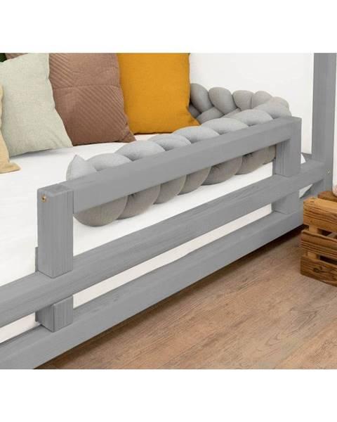 Benlemi Sivá bočnica zo smrekového dreva k posteli Benlemi Safety, dĺžka 90 cm