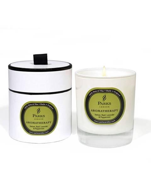 Parks Candles London Sviečka s vôňou bazalky, levandule, mäty a vetiveru Parks Candles London Aromatherapy, 50hodín horenia