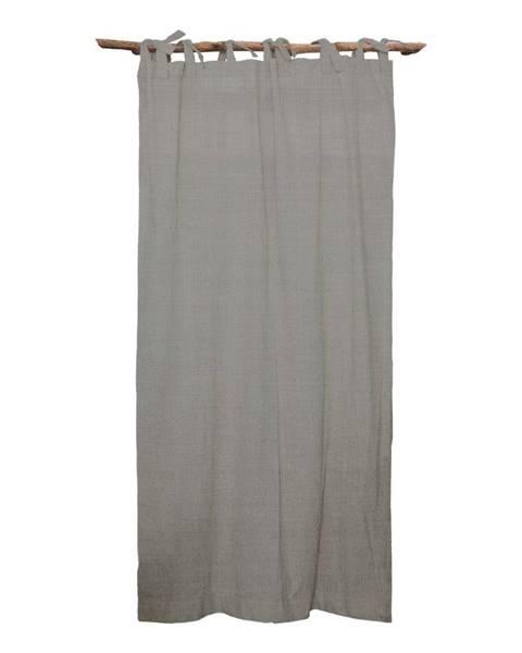 Linen Couture Sivý záves Linen Couture Cuture Cortina Hogar Cool Grey