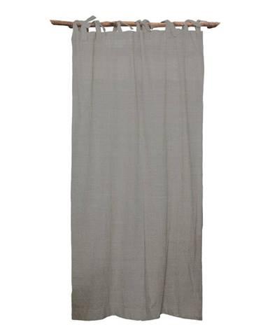 Sivý záves Linen Couture Cuture Cortina Hogar Cool Grey
