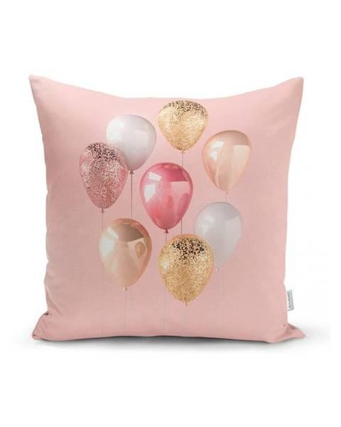 Minimalist Cushion Covers Obliečka na vankúš Minimalist Cushion Covers Balloons With Pink BG, 45 x 45 cm