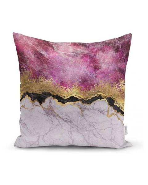 Minimalist Cushion Covers Obliečka na vankúš Minimalist Cushion Covers Marble With Pink And Gold, 45x45cm