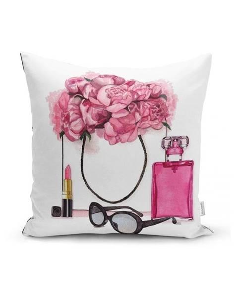 Minimalist Cushion Covers Obliečka na vankúš Minimalist Cushion Covers Pink Flowers and Perfume, 45x45cm