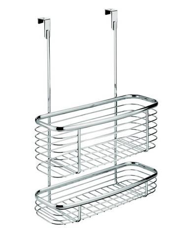 Kovový košík na kuchynské dvierka iDesign Axis Double Basket