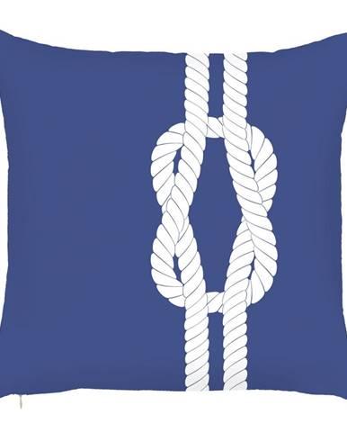 Modrá obliečka na vankúš Mike&Co.NEWYORK Knot, 43 x 43 cm