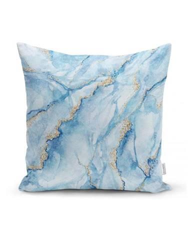 Obliečka na vankúš Minimalist Cushion Covers Aquatic Marble, 45 x 45 cm