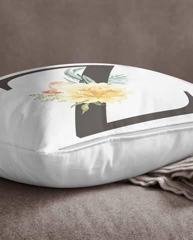 Obliečka na vankúš Minimalist Cushion Covers Floral Alphabet Z, 45 x 45 cm