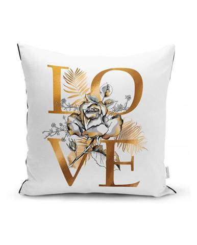 Obliečka na vankúš Minimalist Cushion Covers Golden Love Sign, 45 x 45 cm