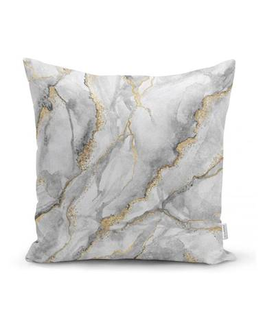 Obliečka na vankúš Minimalist Cushion Covers Marble With Hint Of Gold, 45 x 45 cm