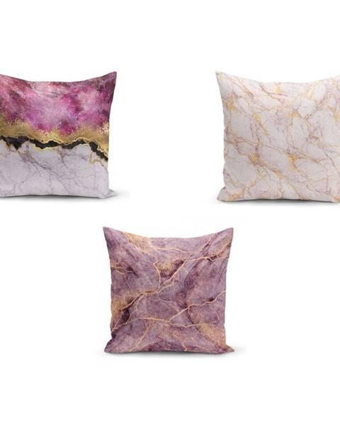 Minimalist Cushion Covers Sada 3 obliečok na vankúše Minimalist Cushion Covers Pinkie Cassie, 45 x 45 cm