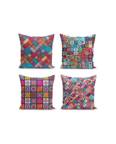 Súprava 4 obliečok na vankúše Minimalist Cushion Covers Fearie, 45 x 45 cm
