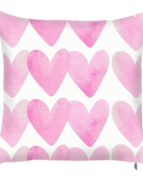 Apolena Ružová obliečka na vankúš Mike&Co.NEWYORK Corazones, 43 × 43 cm