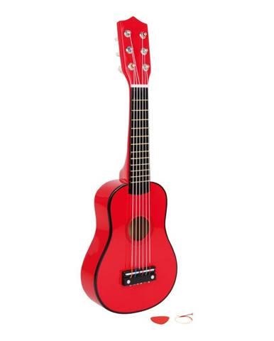 Červená gitara na hranie Legler