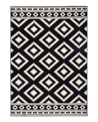 Čierny koberec Hanse Home Gloria Ethno, 80 x 300 cm