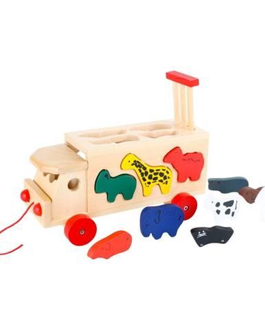 Drevený nákladiak so skladačkou Legler Zoo Cart With Animals