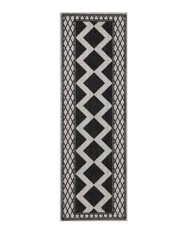 Sivo-čierny behúň Zala Living Cook & Clean Peggy, 60×180cm