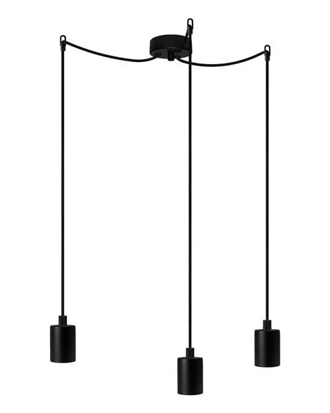 Bulb Attack Čierne závesné svietidlo s 3 káblami Bulb Attack Cero Basic