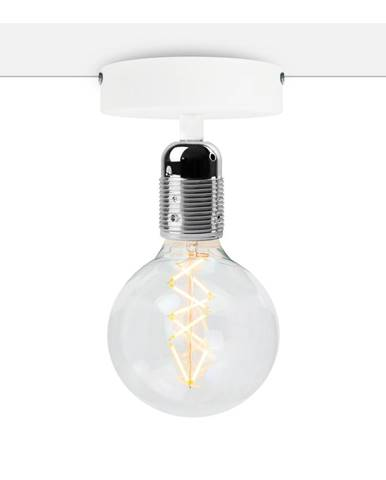 Biele stropné svietidlo so striebornou objímkou Bulb Attack Uno Basic