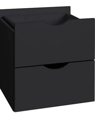 Čierna dvojitá zásuvka do regálu Støraa Kiera, 33×33 cm