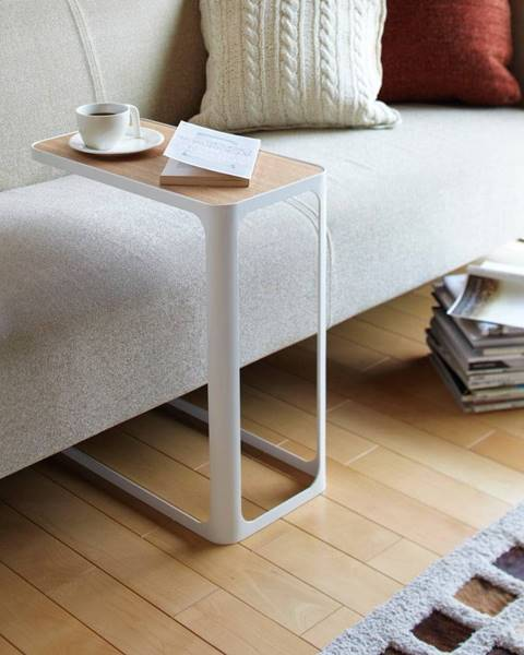 YAMAZAKI Biely bočný stolík YAMAZAKI Frame