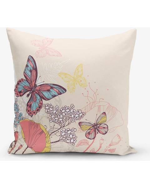 Minimalist Cushion Covers Obliečka na vankúš s prímesou bavlny Minimalist Cushion Covers Butterflies, 45 × 45 cm