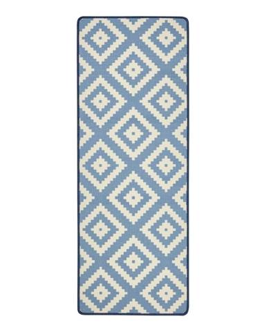 Modrý kuchynský behúň Hanse Home Loop Diamond, 67×180cm