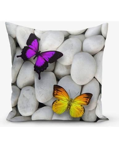 Obliečky na vaknúš s prímesou bavlny Minimalist Cushion Covers Double Butterfly, 45 × 45 cm