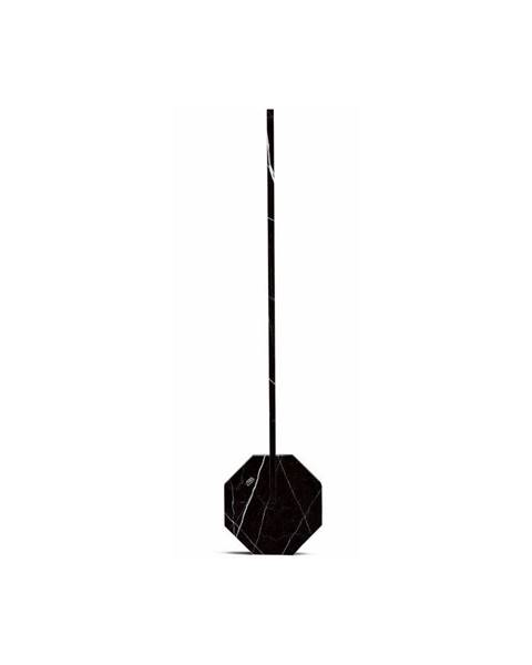 Gingko Čierna stolová lampa v mramorovom dekore Gingko Octagon