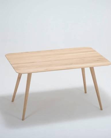 Jedálenský stôl z dubového dreva Gazzda Stafa,140x90cm