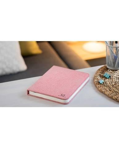 Ružová veľká LED stolová lampa v tvare knihy Gingko Booklight