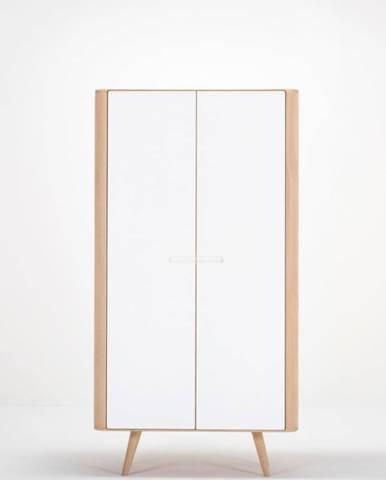 Šatníková skriňa s konštrukciou z masívneho dubového dreva Gazzda Ena, výška 170cm