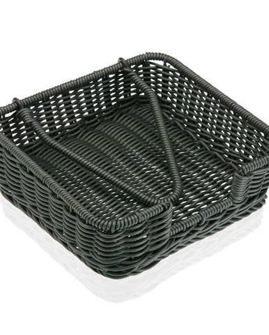 Sivý košík na papierové obrúsky Versa Wonda, 20 × 20 cm