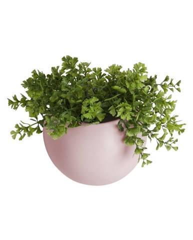 Svetloružový nástenný keramický kvetináč PT LIVING Globe